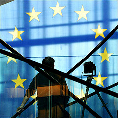 EU flag at the European Parliament von European Parliament