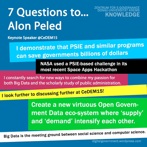 7 Questions' to Keynote Speaker Alon Peled @CeDEM15