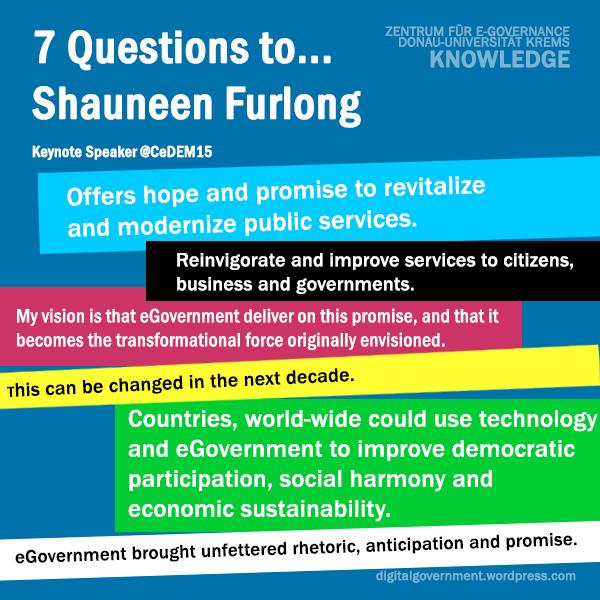 7 Questions' to Keynote Speaker Shauneen Furlong @CeDEM15